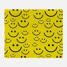 happy face Throw Blanket