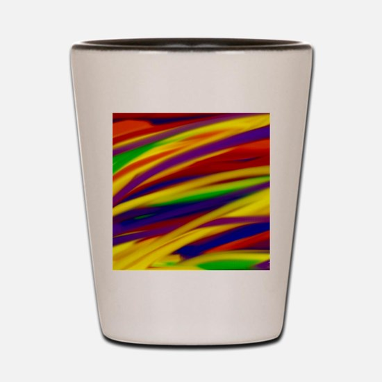 Gay rainbow art Shot Glass
