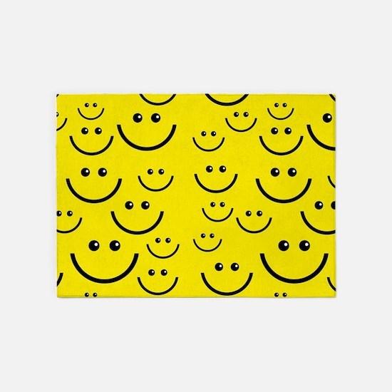 happy face 5'x7'Area Rug