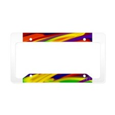 Gay rainbow art License Plate Holder