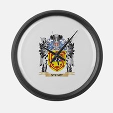 Stuart Coat of Arms - Family Cres Large Wall Clock