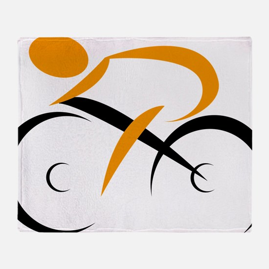 Cute Cycling Throw Blanket