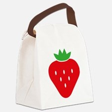 Funny Strawberry Canvas Lunch Bag