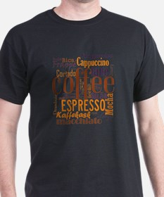 Coffee word cloud collage T-Shirt