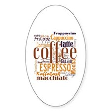 Coffee word cloud collage Decal