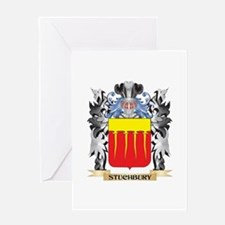 Stuchbury Coat of Arms - Family Cre Greeting Cards