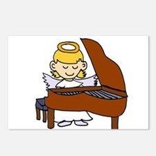 Girl Angel Playing Piano Postcards (Package of 8)