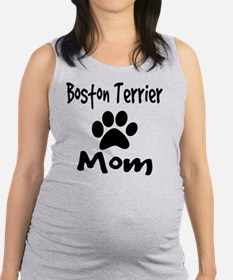 Boston Terrier Mom Maternity Tank Top