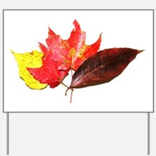 Cute Autumn leaves Yard Sign