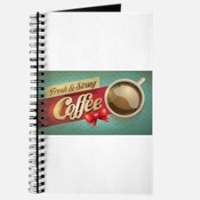 Fresh and Strong Coffee Retro Banner Journal
