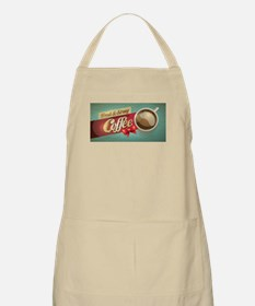 Fresh and Strong Coffee Retro Banner Apron