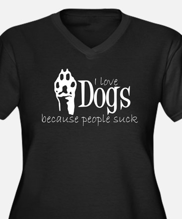 I love dogs Plus Size T-Shirt
