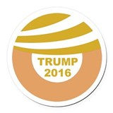 Donald hair Round Car Magnets
