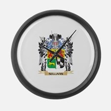 Sullivan Coat of Arms - Family Cr Large Wall Clock