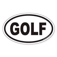 GOLF Euro Oval Bumper Stickers