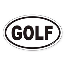 GOLF Euro Oval Decal