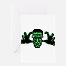 Frankenstien Monster Reaching Out Greeting Cards