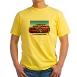 Dodge chargers Mens Classic Yellow T-Shirts