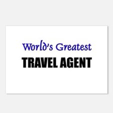 Worlds Greatest TRAVEL AGENT Postcards (Package of