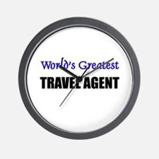 Worlds Greatest TRAVEL AGENT Wall Clock