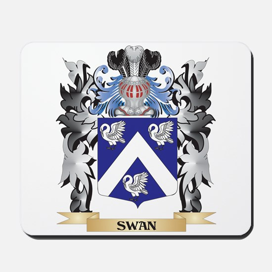 Swan Coat of Arms - Family Crest Mousepad
