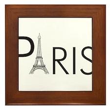 Paris Only Framed Tile
