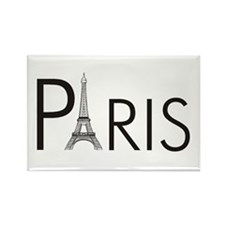 Paris Only Rectangle Magnet