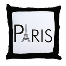 Paris Only Throw Pillow