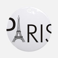 Paris Only Ornament (Round)
