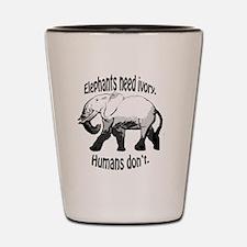 Unique Elephants Shot Glass