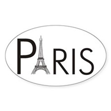 Paris Only Oval Decal
