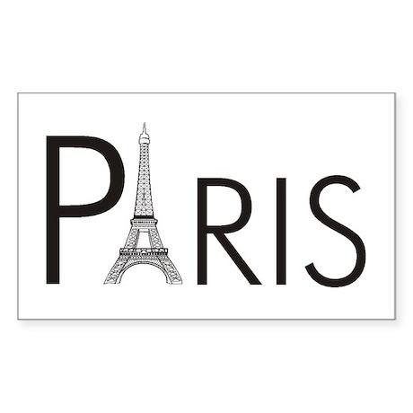 Paris Only Rectangle Sticker