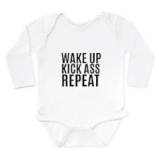 Wake Up Kick Ass Repeat Body Suit