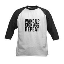 Wake Up Kick Ass Repeat Baseball Jersey