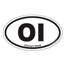 O'Leary's Island OI Euro Oval Decal
