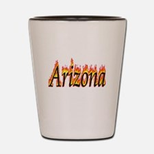 Arizona Flame Shot Glass