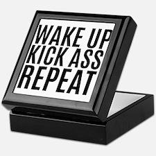 Wake Up Kick Ass Repeat Keepsake Box