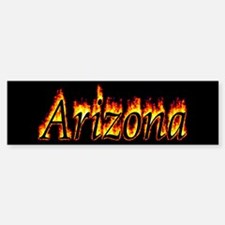 Arizona Flame Bumper Bumper Bumper Sticker