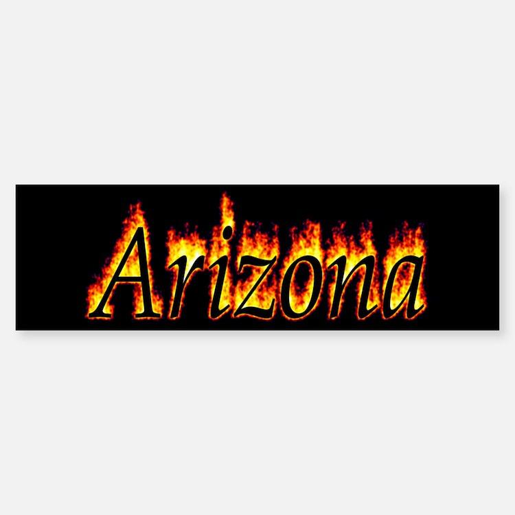 Arizona Flame Bumper Bumper Bumper Sticker