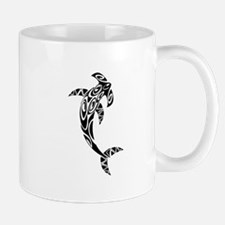 Tribal Hammerhead Shark Illustration Mugs