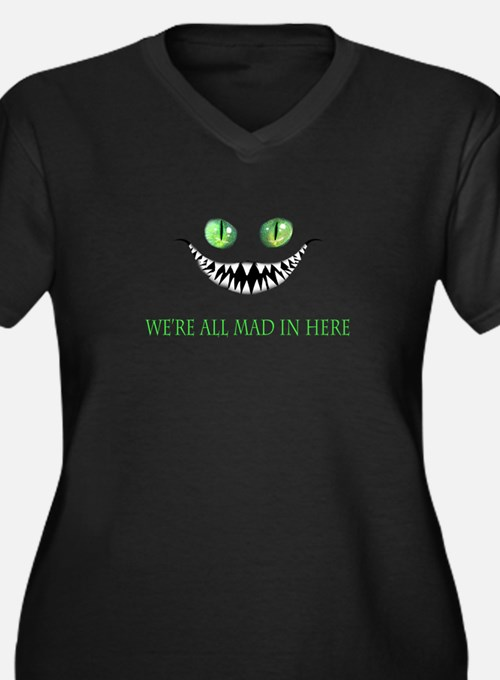 Mad Chesire Cat Plus Size T-Shirt