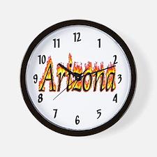 Arizona Flame Wall Clock