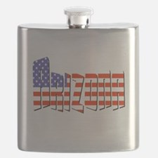 Patriotic Arizona Flask