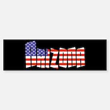 Patriotic Arizona Bumper Bumper Bumper Sticker
