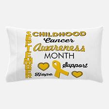 Childhood Cancer Awareness Pillow Case
