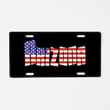 Patriotic Arizona Aluminum License Plate