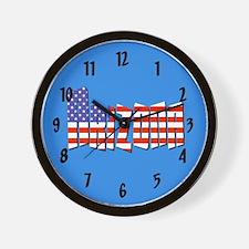 Patriotic Arizona Wall Clock