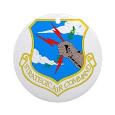 USAF SAC Ornament (Round)