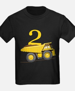 Dump Truck 2nd Birthday T-Shirt