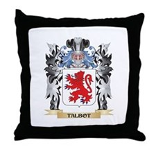Talbot Coat of Arms - Family Crest Throw Pillow